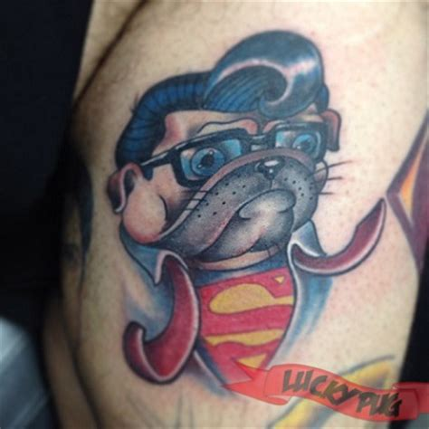 skin factory tattoo superman pug tattooed by josh herrera at skin factory