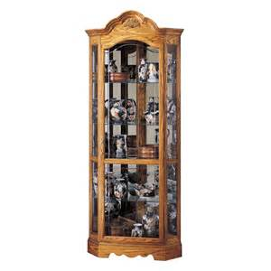 Glass Corner Display Cabinet Sale Howard Miller Wilshire Corner Display Cabinet 680207