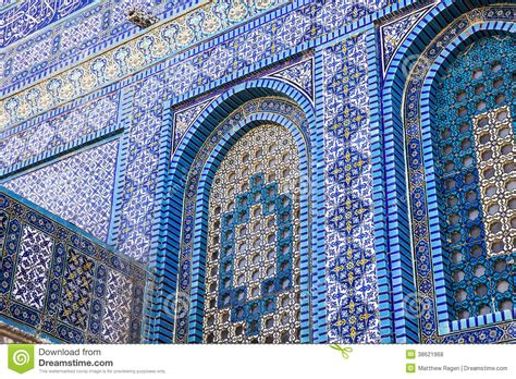 tile pattern rakatan temple tiles on the dome of the rock royalty free stock photos