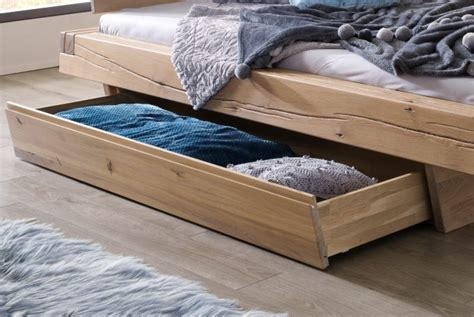 lit avec tiroir en chene naturel kara mobilier en