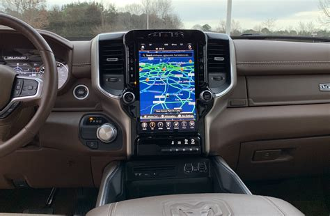2019 dodge touch screen review 2019 ram 1500 offers a gorgeous 12 3 inch portrait