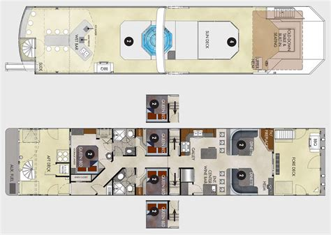 houseboat floor plans 75 foot excursion houseboat