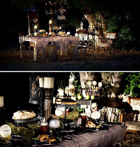 halloween backyard party outdoor gothic dinner party halloween general halloween