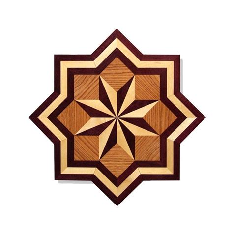 Decorative Inlays by Pid Floors Medallion Unfinished Decorative Wood Floor
