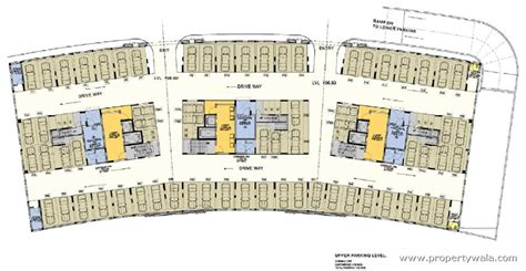 parking floor plan dev exotica kharadi pune apartment flat project