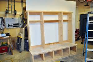 Entry Bench With Mirror How To Build A Hutch