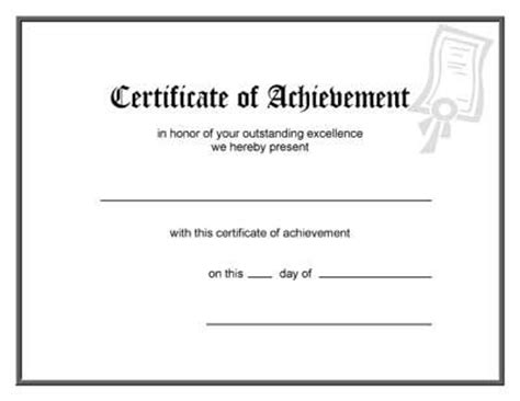 certification letter of accomplishment blank award certificate template kid award certificates