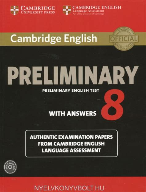 cambridge preliminary english test cambridge preliminary english test 8 with answers examination papers from university of