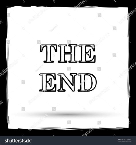 End Of Outline by End Icon Button On White Stock Illustration 322128407