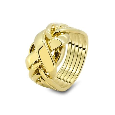 mens gold 6rx m puzzle rings creations