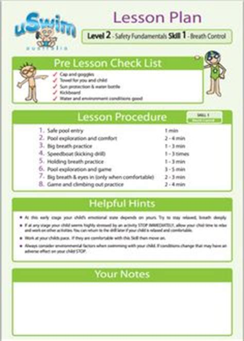 team lesson plan template tn 1000 images about swimming without lessons on