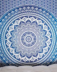 light pink and blue tapestry purple blue white mandala tapestry spreads home and