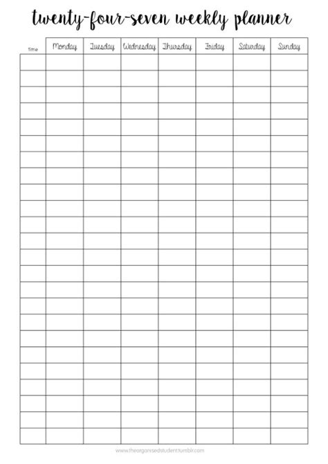printable hourly planner 2016 24 hour printable hourly calendar 2016 calendar template