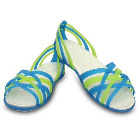 Crocs Flat Blue crocs huarache flat sandals black blue pink brown new