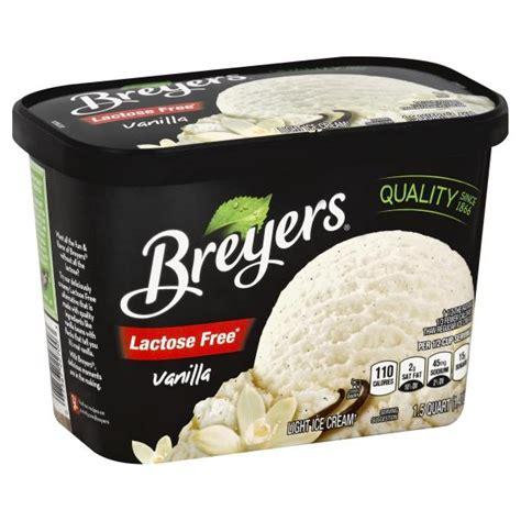 lactose free light cream breyers ice cream light lactose free vanilla publix com