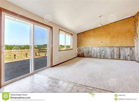 Bookcase Clipart Empty Countryside House Interior Orange Wall With Wooden