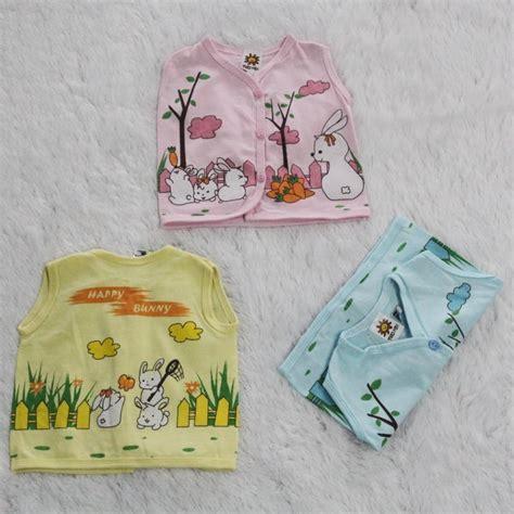 Baju Bayi 1 Lusin 1 Lusin Model Atasan Warna Tanpa Lengan Bpkw2 Grosir