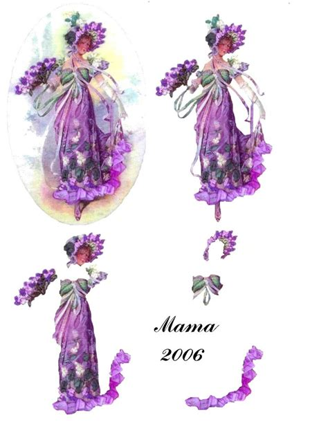 How To Make Paper Violets - 44 best images about my 3d decoupage on
