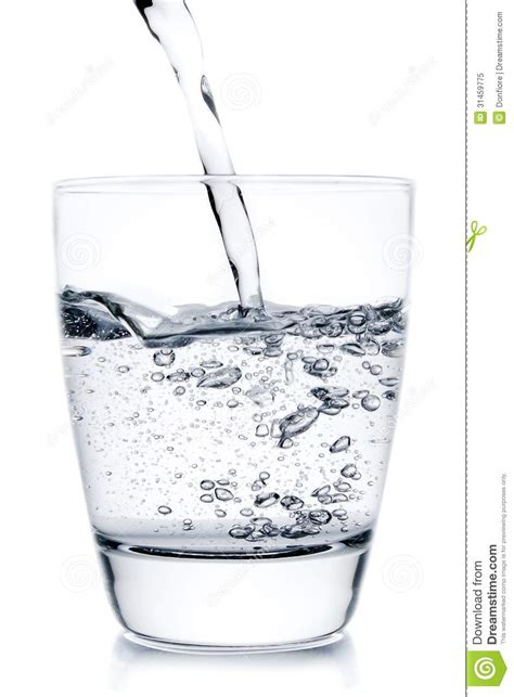 What To Fill Glass With Filling A Glass With Pouring Water Royalty Free Stock