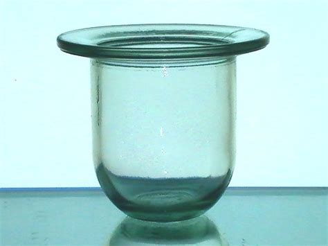 Flat Glass Candle Holders Hanging Candle Holder 4 X 4 7 8 Flat Thick Glass Pale
