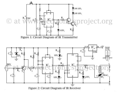 remote light switch circuit diagram infrared remote switch electronics project