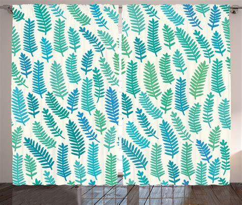 leaf pattern net curtains curtains teal leaf patterns elegant design white 2 panels