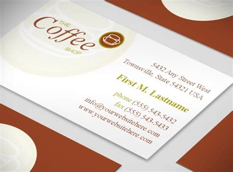 coffee business card template free coffee business card template free 28 images brown and beige coffee shop cafe business cards