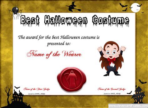 costume certificate template best costume certificate template