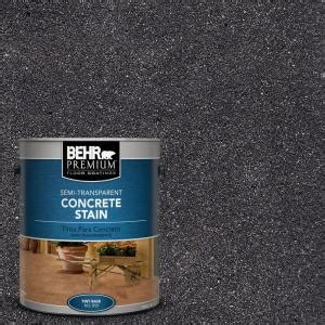 behr premium 1 gal stc 35 coal semi transparent concrete stain semi transparent and