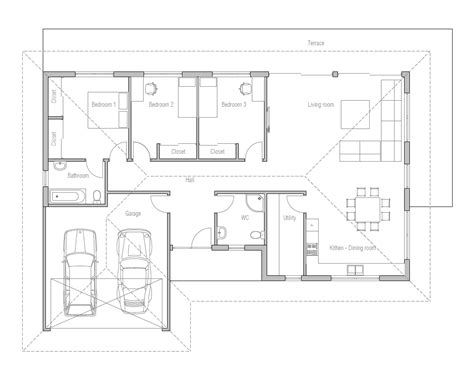 double garage plans small house design with open floor plan efficient room