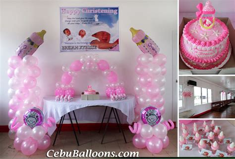 Baby Girl Giveaways - christening girl cebu balloons and party supplies