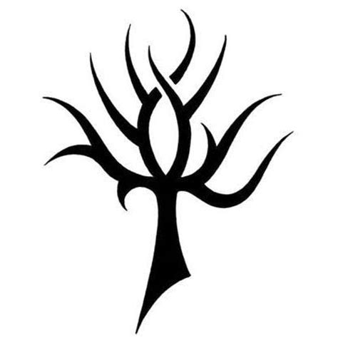 tribal tree tattoo designs ankh resembles a tribal tree design tattoowoo
