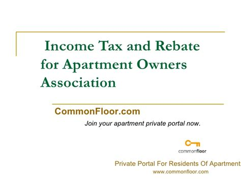 Apartment Association Search Income Tax And Rebate For Apartment Owners Association