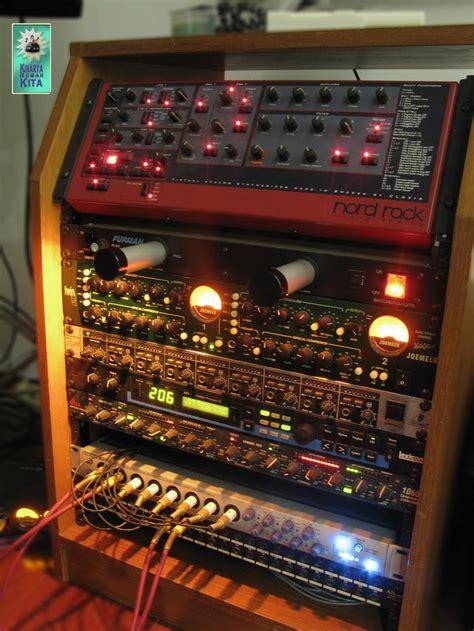 recording studio rack home recording studio nord rack joemeek twin q dbx 1066 compressor presonus digimax fs