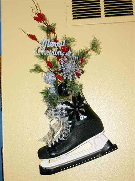 ice skates decoration christmas decoration hockey skates