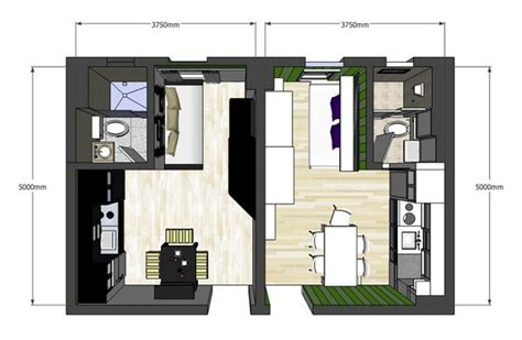 Attic Floor Plans by Lovely Twin 20sqm Apartments With A Clever Design