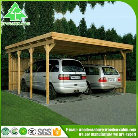 design outdoor waterproof carport aluminum wooden