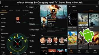 tv shows apk tea tv apk by category and tv shows free on android with no ads live iptv x