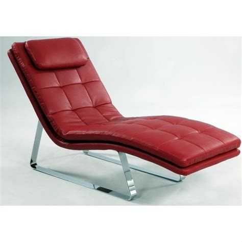 chaise lounge leather chintaly corvette bonded leather chaise lounge with chrome