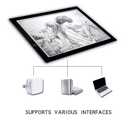 Portable A3 Led Light Pad Box Drawing Copy Board Drafting Drafting Table Pad