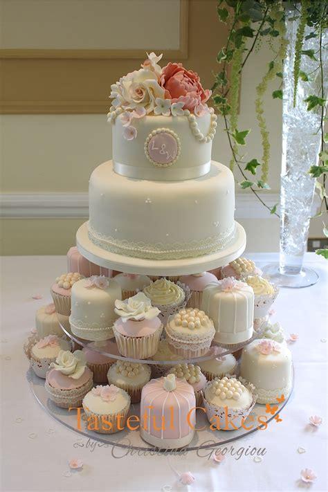 wedding cupcake cake cakes by georgiou vintage style
