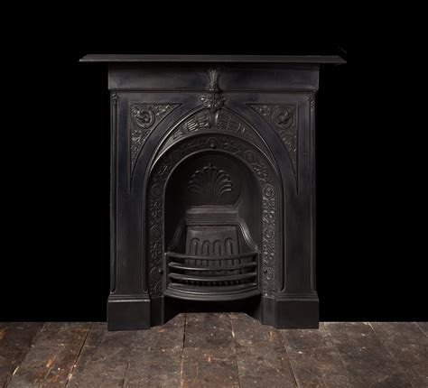 antique cast iron fireplace ci171 19th century