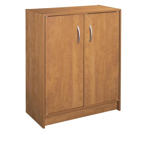 Closetmaid 2 Door Storage Cabinet shop closetmaid stackable alder 2 door storage cabinet at lowes