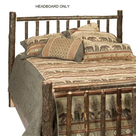 Log Bed Headboards by Fireside Lodge Hickory Log Headboard