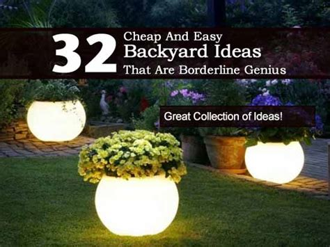 Cheap And Easy Garden Ideas 32 Cheap And Easy Backyard Ideas That Borderline On Genius