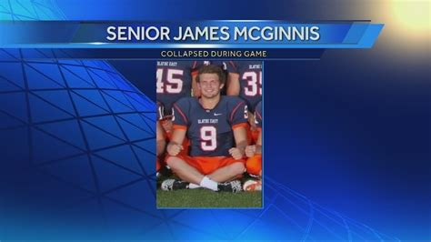 james mcginnis olathe olathe east football player remains in critical condition