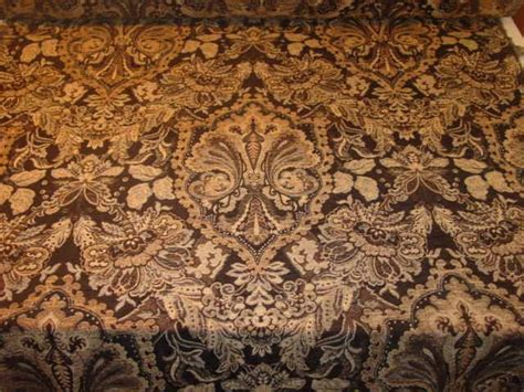 edwardian upholstery fabric black gold victorian style tapestry upholstery fabric