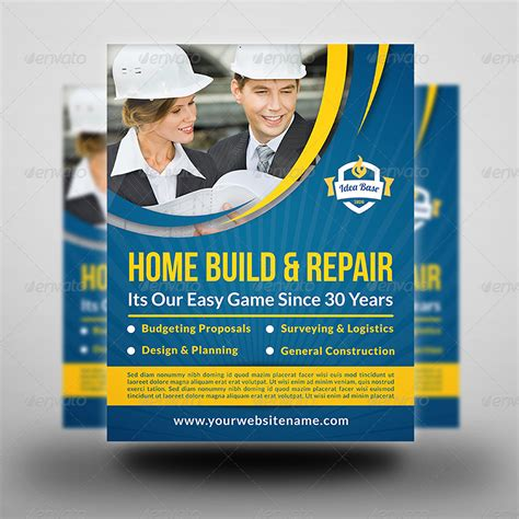 construction flyer templates construction business flyer vol 3 by owpictures graphicriver