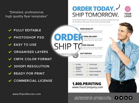 service flyer template printing services flyer template 2 flyerheroes