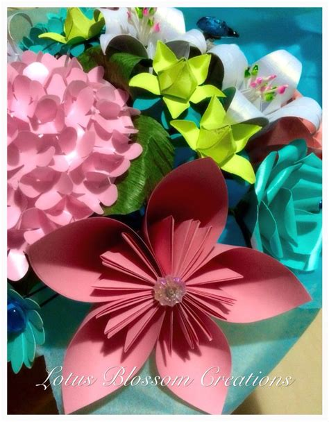 paper flower bouquet pattern 17 best images about lotus blossom creations handmade